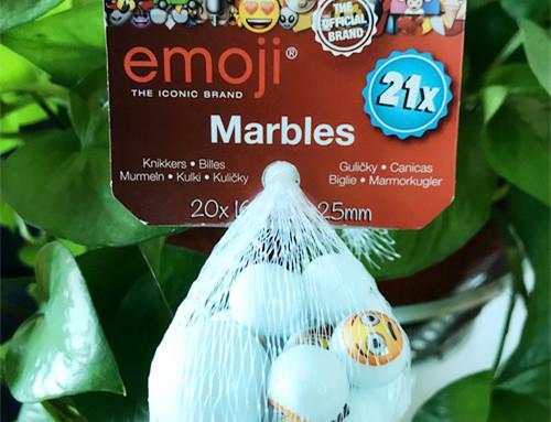 Emoji glass marble
