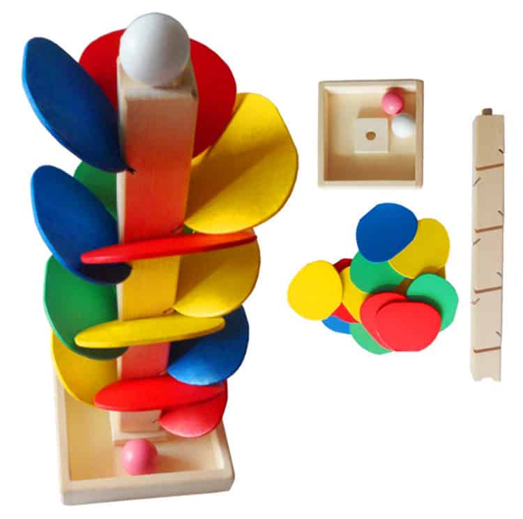 classic wooden toy marble run, marble wooden toy, toy marble