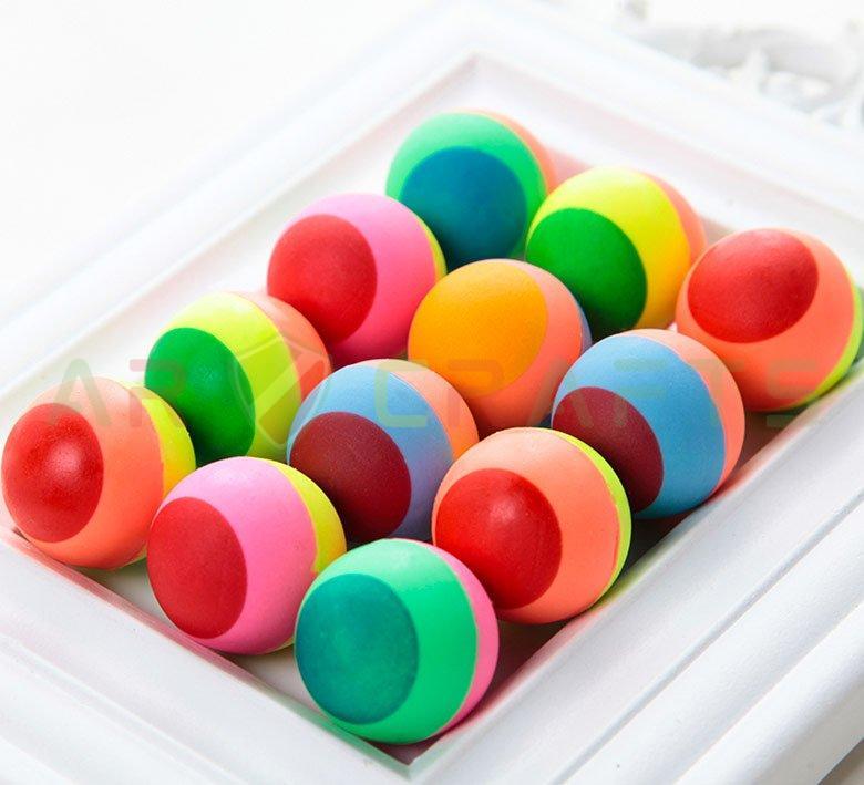 Bouncy ball -Jumping ball-Rubber Ball-Plastic ball-Soft ball-Toy ball(Lollipop ball) (4)